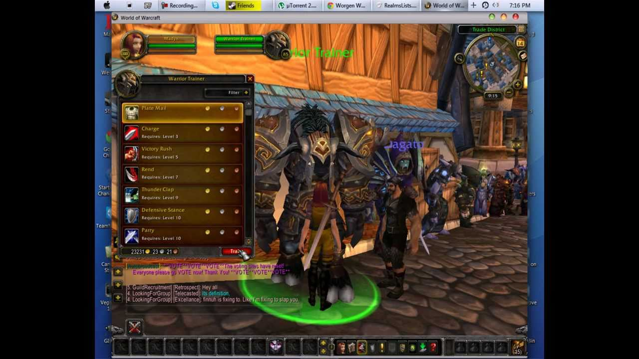 private world warcraft Adult server