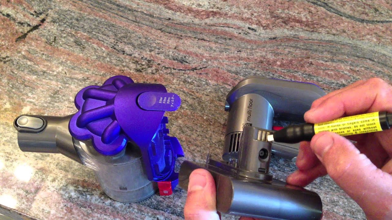 Dyson dc35 handheld fix youtube for Dyson dc39 motor replacement