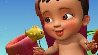 सुन्दर मछलियाँ हैं तैर रहीं | Hindi Rhymes for Children | Infobells