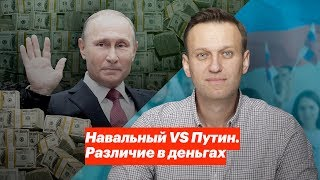 Навальный vs Путин. Различие в деньгах