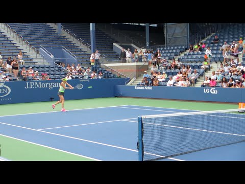 2014 US OPEN: Maria Sharapova's practice, Taro Daniel advances