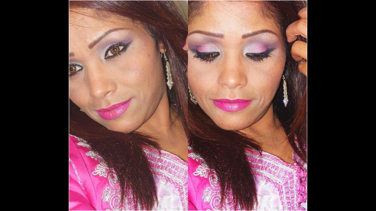 Mon Maquillage De Soir E Rose Argent Et Violet Youtube
