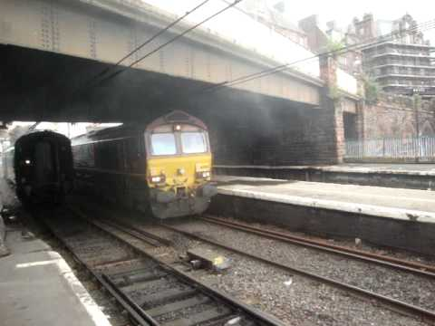 The A4 Class 60009 Union Of South Africa in Carlisle comes over with EWS freight!