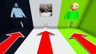 Minecraft : DO NOT CHOOSE THE WRONG DOOR (Slendrina,Granny,Baldi)