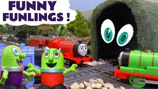 Funny Funlings with Thomas and Friends trains at a spooky tunnel and at a McDonalds Drive Thru TT4U