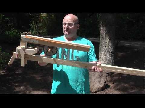Shooting Circular Sawblades With The Slingshot