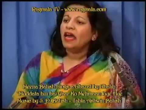Ghalib Ghazal sung by Meena Batish Music & harmonium by S D...