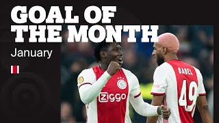 GOAL OF THE MONTH JANUARY • Ziyech, Bobson, Gravenberch, Traoré, Brobbey & Koster
