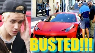 Justin Bieber Fails To Sweet Talk His Way Out Of A $200 Ticket [2014]