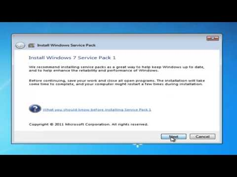 INSTALAR SERVICE PACK 1 EN WINDOWS 7