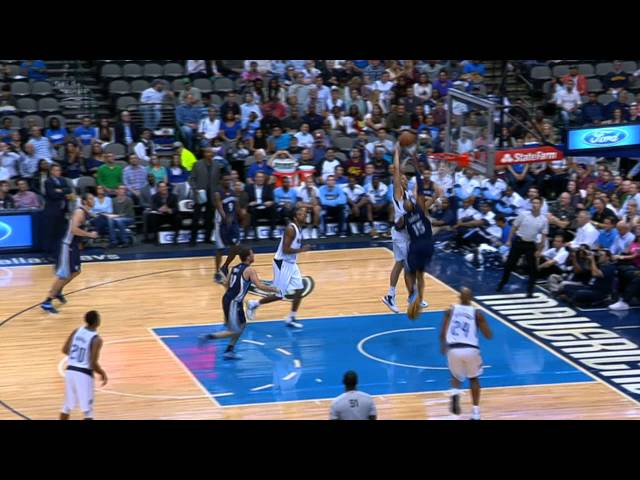 Vince Carter Meets Dirk Nowitzki at the Rim for the STUFF!!