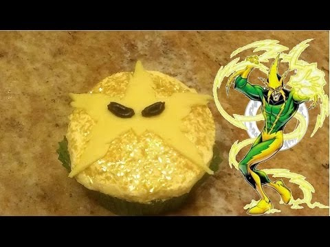 The Amazing Spiderman 2 part 2: Electro Mask Cupcakes