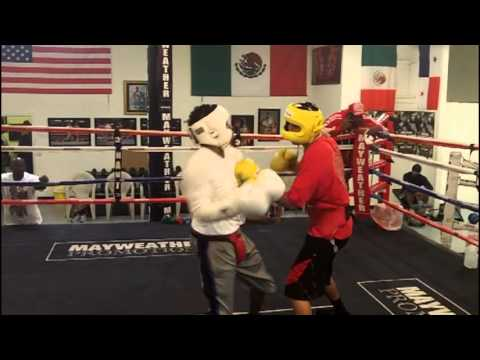 Sparring at the Mayweather Boxing Club: Derrick Wilson (9-3-2, 3 KO's) vs. Ulises Soriano (2-0-1) Image 1
