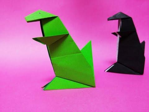 Easy t Rex Origami Easy Origami Dinosaur t Rex