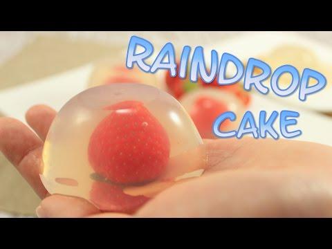 Raindrop Cake - Klassisch & Erdbeer   Wasserkuchen-Trend aus New York   Mizu Shingen Mochi