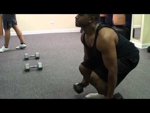 Fitness: Squat-Curl-Press - How to train the Legs, Biceps, Shoulders (Sidai Ping)