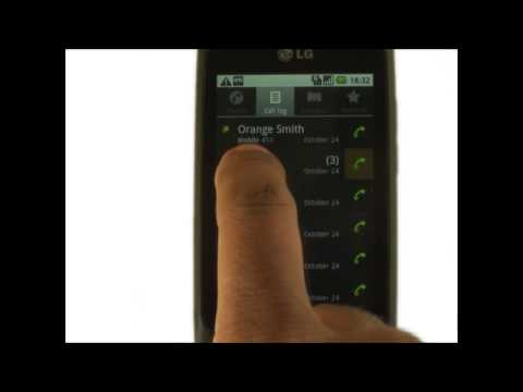How to view your call history on your LG Optimus One | The Human Manual