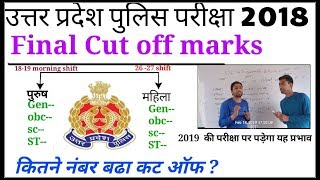 UP Police Final Cut off marks 2018