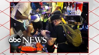 Volunteer medics assist protesters on the ground