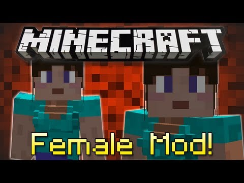 Minecraft | FEMALE GENDER MOD! | Girls play Minecraft too!