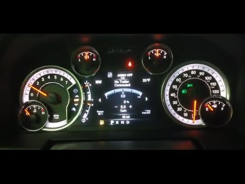 2014 Ram 1500 Multiview Reconfigurable Display Overview