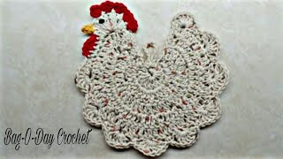 CROCHET How to #Crochet Chicken Potholder #TUTORIAL #237 LEARN CROCHET