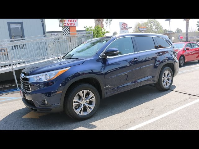 Certified Used 2015 Blue Toyota Highlander XLE SUV at Toyota Of Whittier 888-718-3693 Great Prices