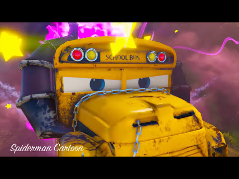 CARS 3 MOVIES KING DINOCO Fall into the Depths by Monster w/ 3d animation Funny Kids Video