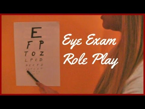 [ASMR ♥] Eye Exam Role Play