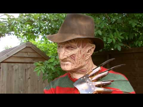 Part 3 Freddy Krueger Costume ( torched 3 silicone mask ) klip izle