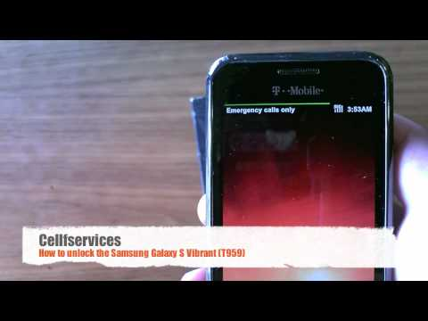 How to Unlock Samsung Vibrant Galaxy S (T959) - T-mobile. Vodafone. O2. Orange. 3