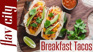 How To Make Paleo Breakfast Tacos w/ Cashew Tortillas, Pasture Raised Eggs & Bacon