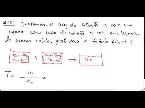 MISTURA DE SOLUÇÕES DE MESMO SOLUTO - Lógica Reforço Escolar.