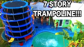 WORLD'S BIGGEST TRAMPOLINE TOWER!!! | JOOGSQUAD PPJT