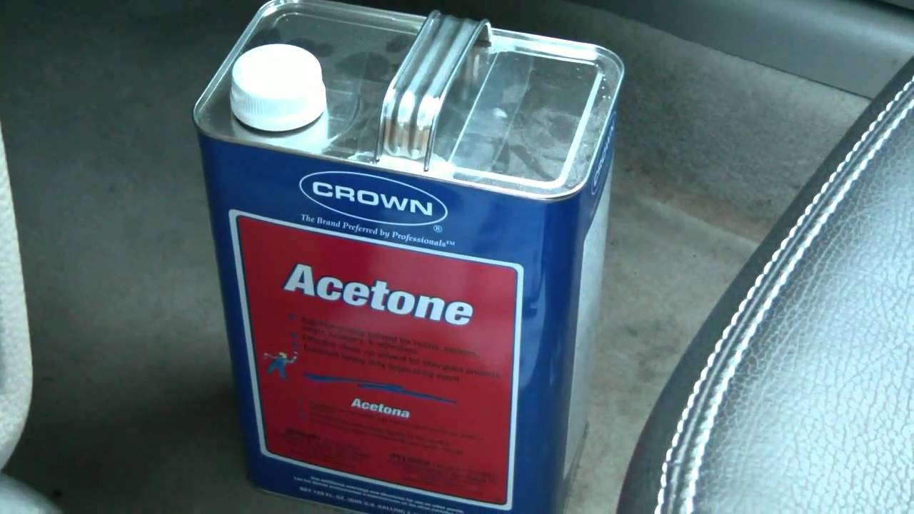how to clean a bong with acetone