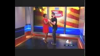 Janice Huff INSANELY HOT LEGS DANCING!!! 10/10/13