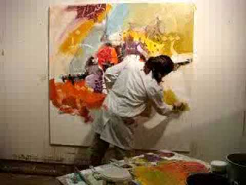 Abstract painting by Zaman Jassim لوحة تجريدية للفنان زمان جاسم