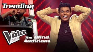 Dasith Lakpura | Prathihari Blind Auditions | The Voice Teens Sri Lanka