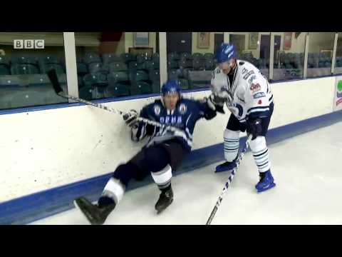 Chris Evans Breakfast show Sporting Challenge - Ice Hockey Video