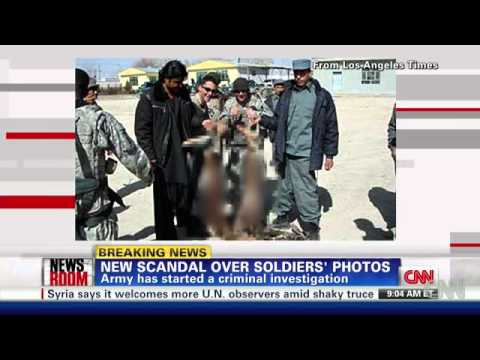 U.S. troops &  NA criminals pose with suspected Afghan bombers' bodies