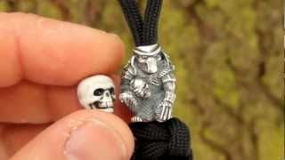 PREDATOR SILVER BEAD FOR PARACORD LANYARD