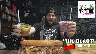 "L.A. BEAST  vs ""The BEAST"" | 5 Pound BBQ Meal at TSTBBQ (Leonardo, New Jersey)"