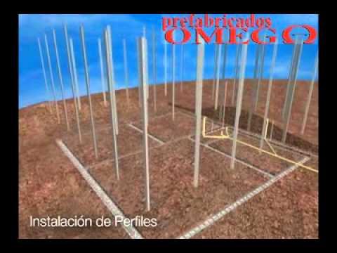 Video instalacion de casas prefabricadas en paneles de - Como hacer una casa prefabricada ...