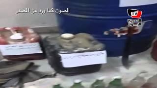 الأمن يضبط أخوانى بحوزته مواد حارقه وزجاجات ملتوف لأستخدامها فى أعمال الشغب