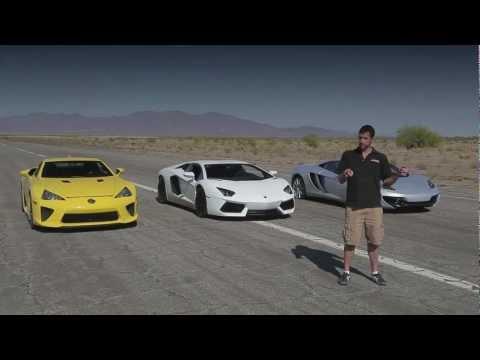 Supercar Bugatti Veyron,Lamborghini Aventador,Lexus LFA,McLaren MP4-12C