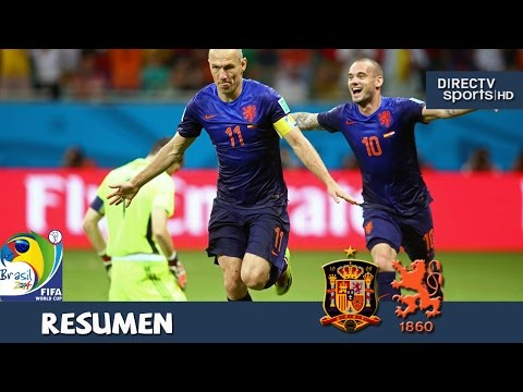 España vs Holanda 1-5 Mundial Brasil 2014 DirecTV Sports HD