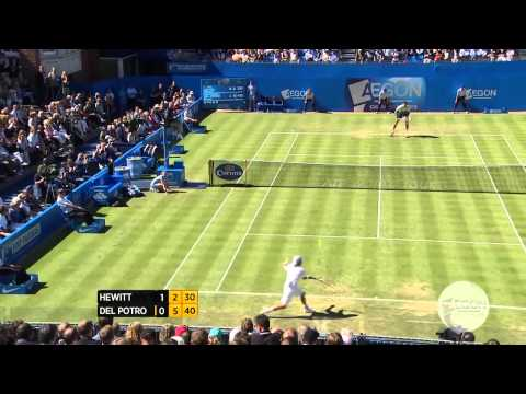 London Queens 2013 Friday Highlights Hewitt Del Potro