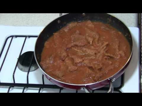 Chicharron en salsa roja, Receta de Chicharron en salsa roja, Como hacer Chicharron en salsa roja