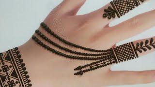 Simple & Stylish Back Hand Mehndi Design | Easy Jewellery style mehndi design | Eid Special