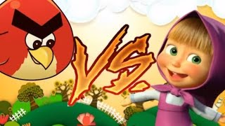動畫片, Angry Birds Cartoon Masha and the Bear, Masha vs Angry bird, new cartoon 2015
